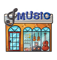 A music store vector image vector image