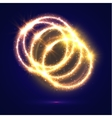 Abstract circles of golden light flashes sparkles vector image vector image