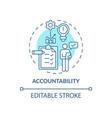 accountability blue concept icon