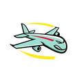angry jumbo jet plane mascot vector image vector image