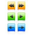 arrow button set vector image