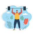 athlete male weightlifter vector image vector image
