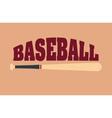 baseball sport bat vector image vector image