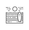Beach landscape line icon