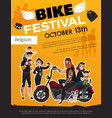 bike festival subcultures poster vector image vector image