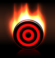 Blazing glossy target goal plate vector image vector image