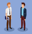 business men isometric avatars vector image vector image