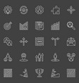 career outline icons vector image vector image