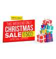 christmas sale banner template xmas big vector image