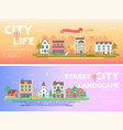 city life - set of modern flat vector image vector image