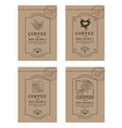 coffee packaging set vector image vector image