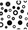 cog wheel seamless pattern clockwork vector image