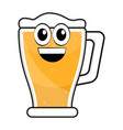 colored happy beer glass icon vector image vector image