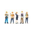 construction workers crew vector image
