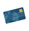 credit card plastic business bank paying vector image vector image