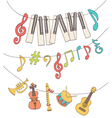 cute musical signs vector image