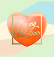 delicate valentines day greetings with pink vector image