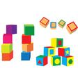 different blocks vector image