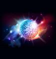 disco ball disco ball on open space background vector image vector image