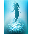diving girl against light seabed background vector image vector image