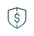 economy business money shield protection gradient vector image vector image