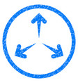 expand arrows rounded grainy icon vector image vector image