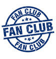 fan club blue round grunge stamp vector image vector image