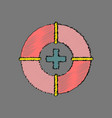 flat shading style icon lifebuoy vector image vector image