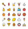 food icons 5 vector image vector image