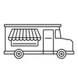 food truck icon outline style vector image vector image