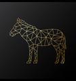 geometric zebra emblem golden polygonal zebra vector image vector image