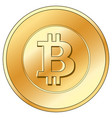 gold coin with a bitcoin sign vector image