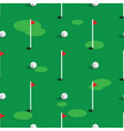 golf course pattern background green grass and vector image