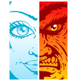 Good and evil vector image