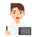 graphic designer icon profession and job vector image vector image