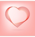 Heart red lines Valentines Day vector image