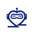 heart robot vector image