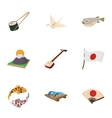 Holiday in Japan icons set cartoon style vector image vector image