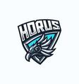horus esport gaming mascot logo template vector image