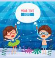 ilustration of summer kids vector image