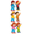 isolated set boys and girl vector image