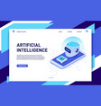 isometric mobile artificial intelligence ai vector image vector image