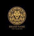 king lion head circle logo design vector image