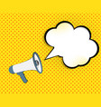 megaphone with speech bubble vector image