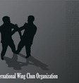 Men are engaged in the Kung fu Wing Chun vector image vector image