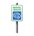 Mental Health Sign vector image vector image