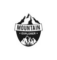mountain explorer badge camping adventure emblem vector image vector image