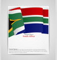 national flag brochure of south africa vector image vector image