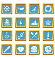 nautical icons azure vector image vector image