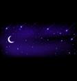 night sky is full stars and moon dark vector image